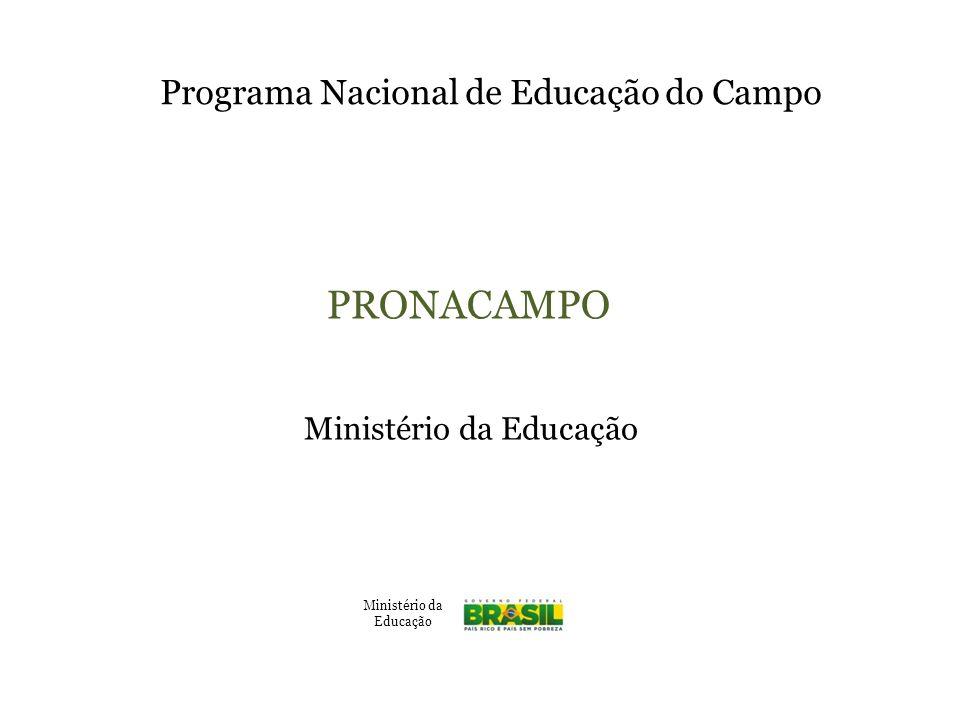 PRONACAMPO Programa Nacional de Educação do Campo