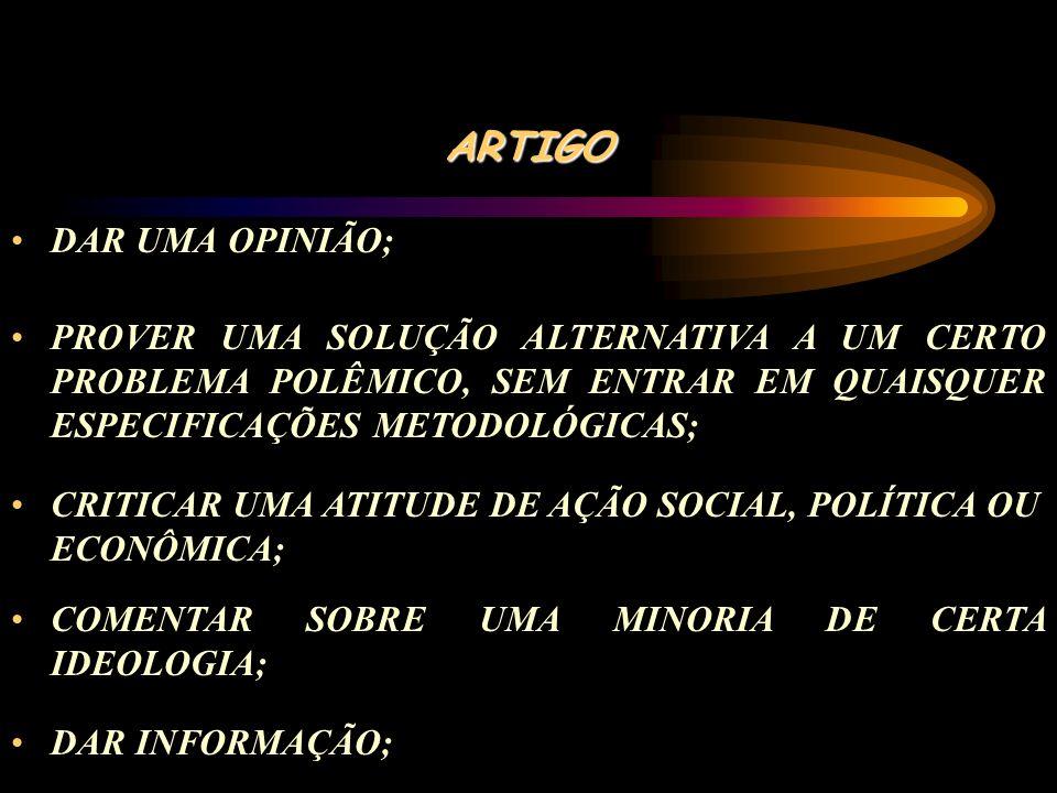 ARTIGO DAR UMA OPINIÃO;