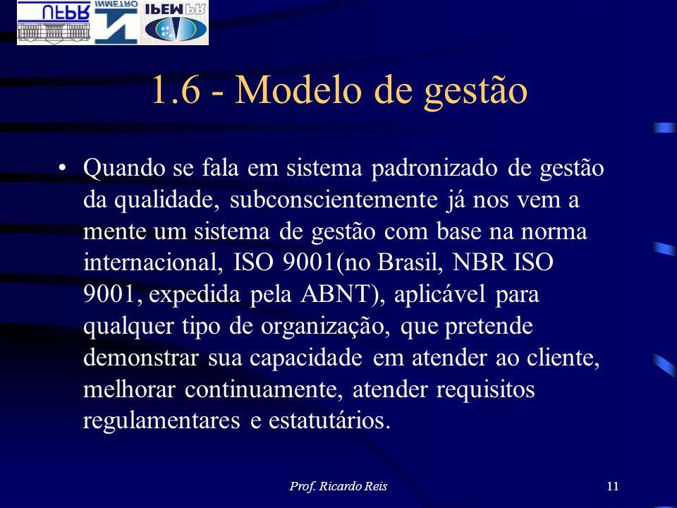1.6 - Modelo de gestão