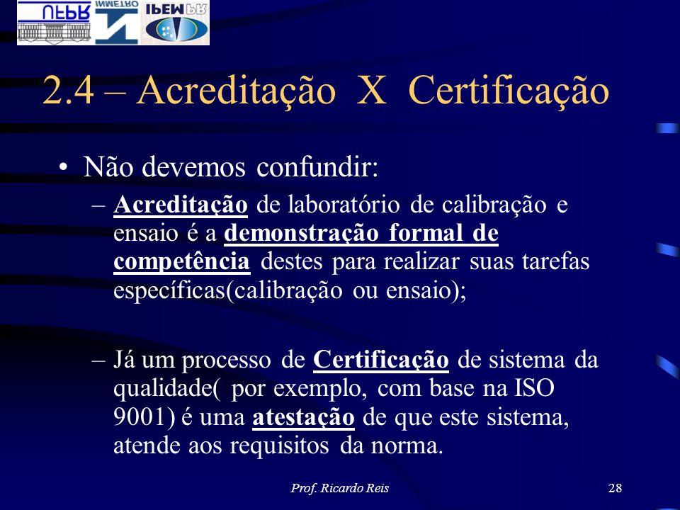 2.4 – Acreditação X Certificação