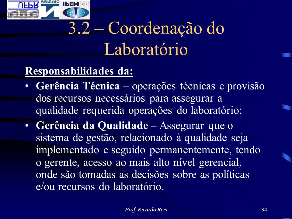 3.2 – Coordenação do Laboratório