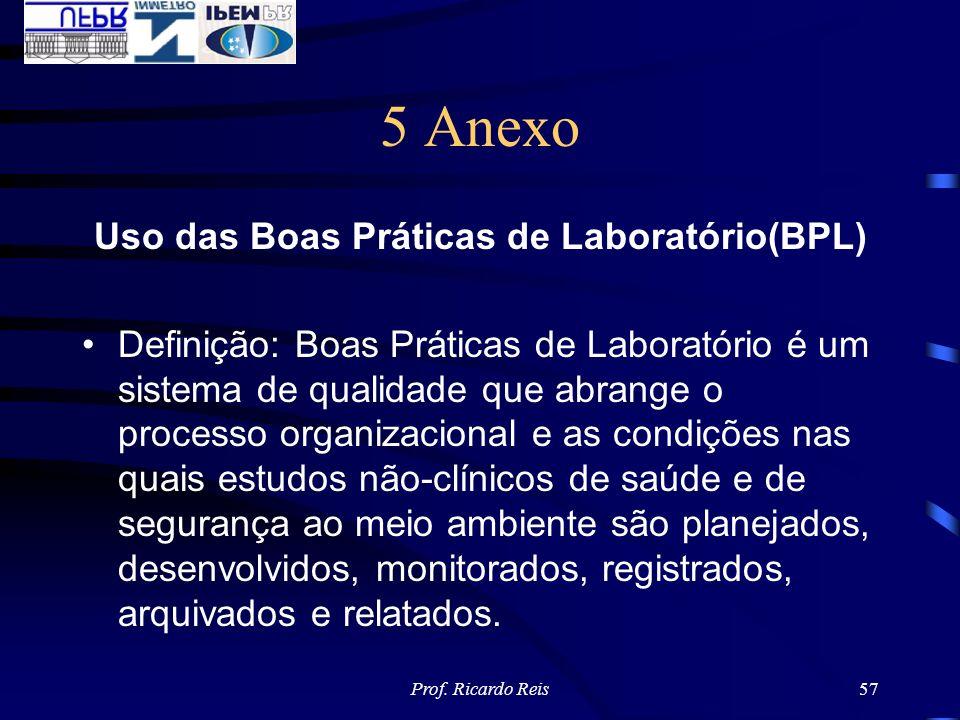 Uso das Boas Práticas de Laboratório(BPL)