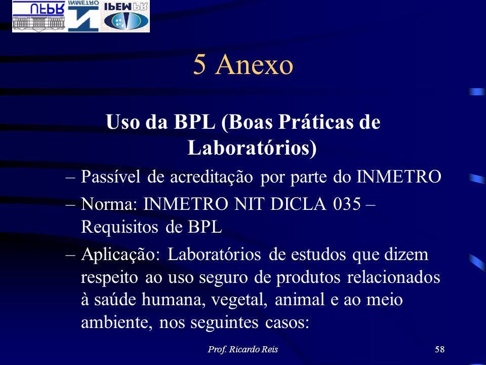 Uso da BPL (Boas Práticas de Laboratórios)