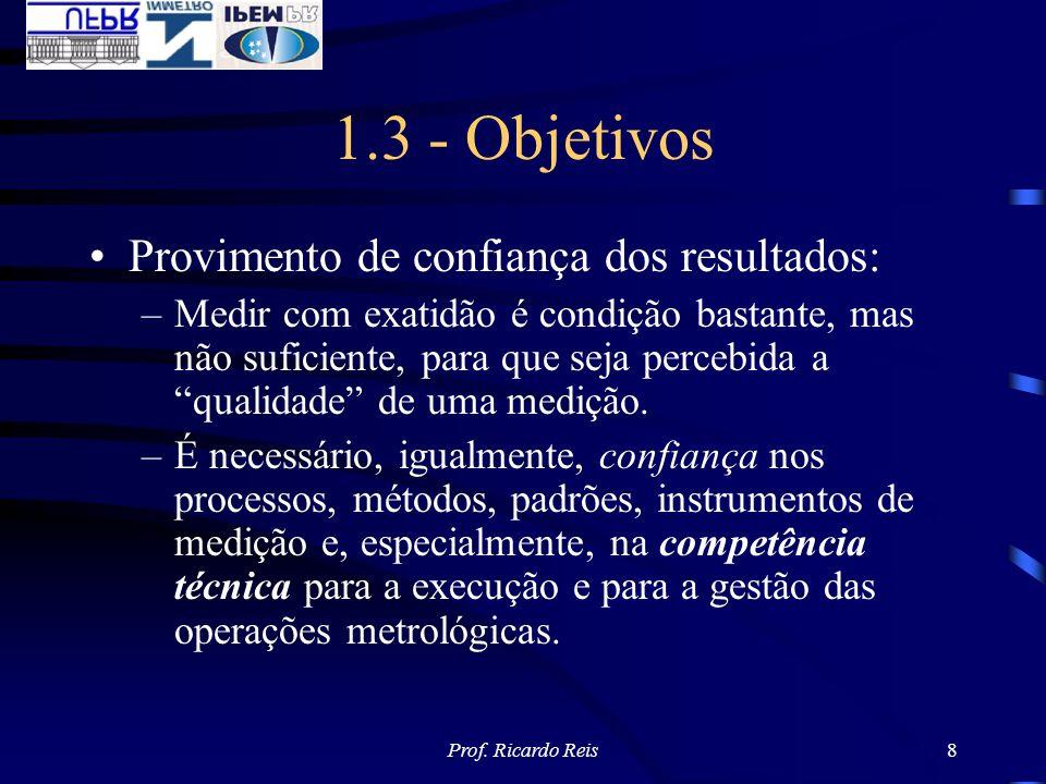 1.3 - Objetivos Provimento de confiança dos resultados: