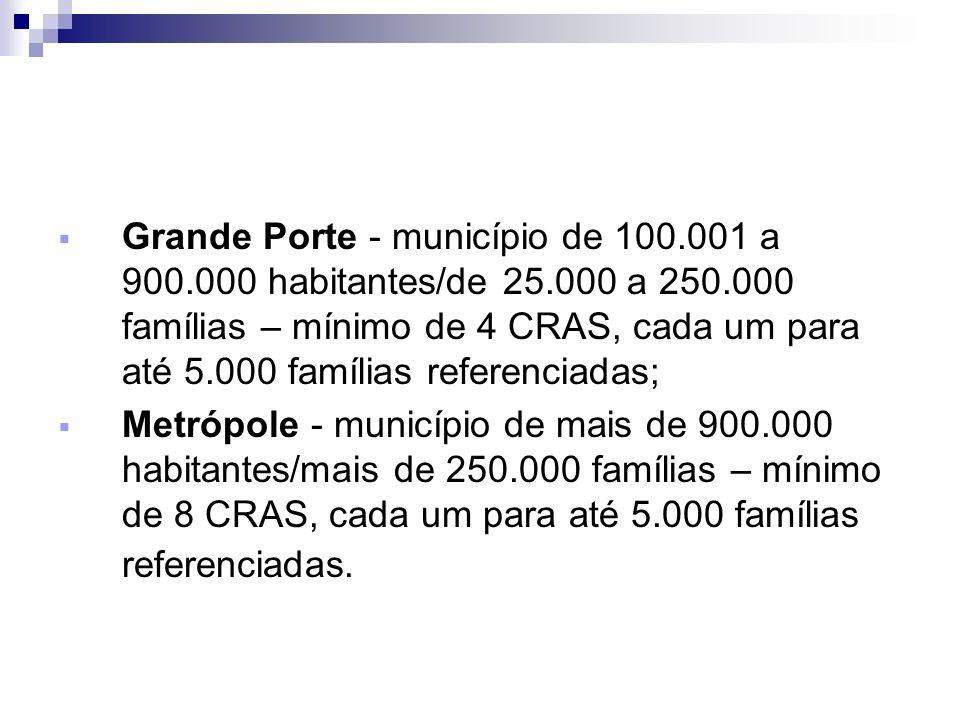 Grande Porte - município de 100. 001 a 900. 000 habitantes/de 25