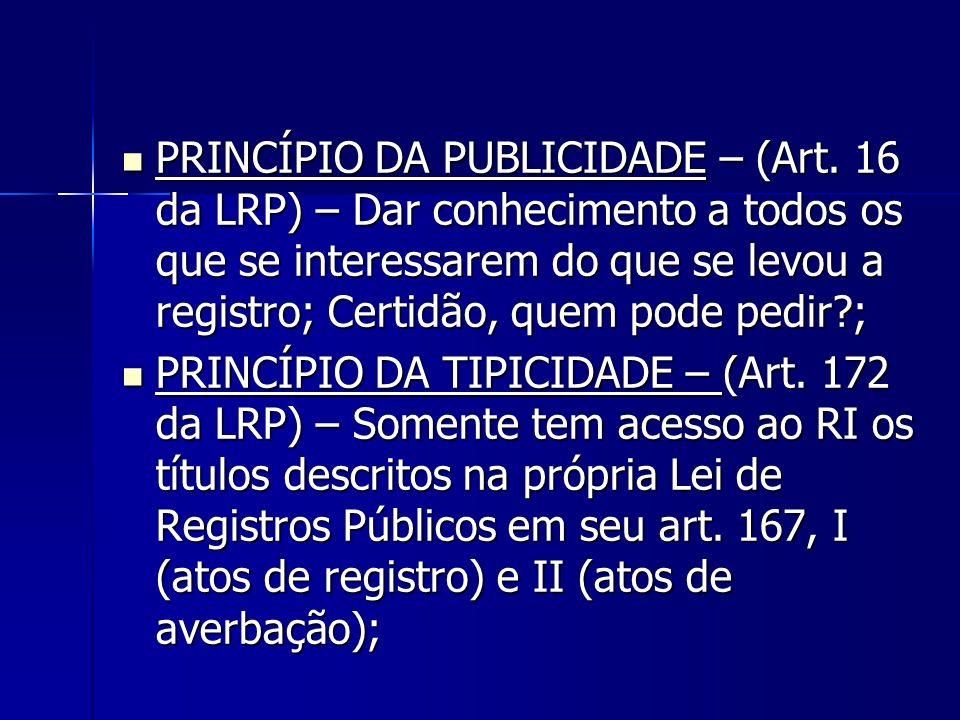 PRINCÍPIO DA PUBLICIDADE – (Art