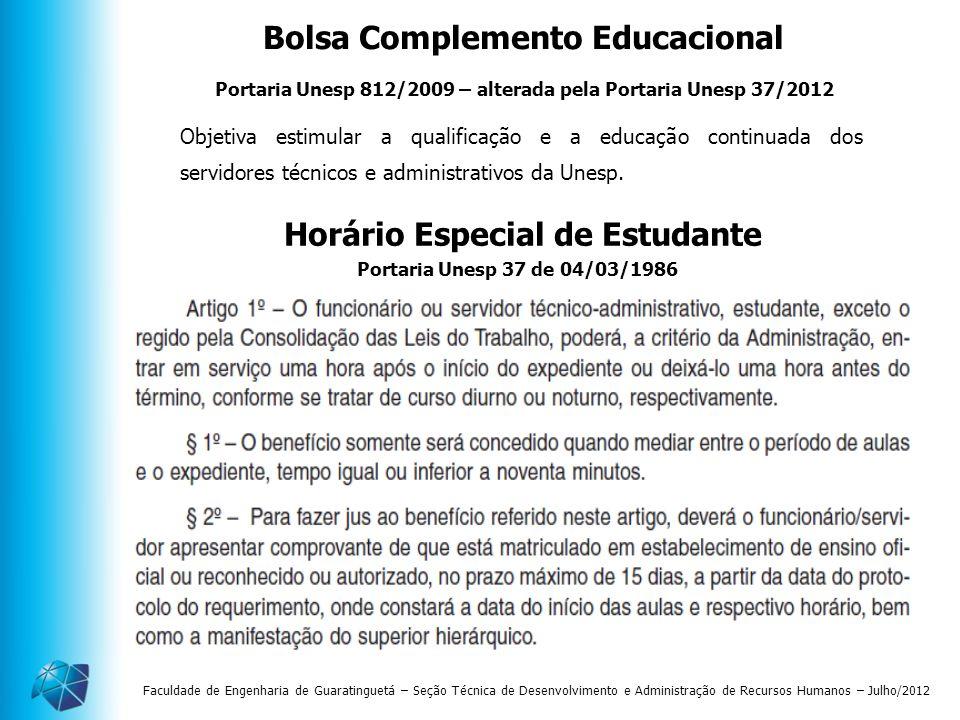 Bolsa Complemento Educacional Horário Especial de Estudante