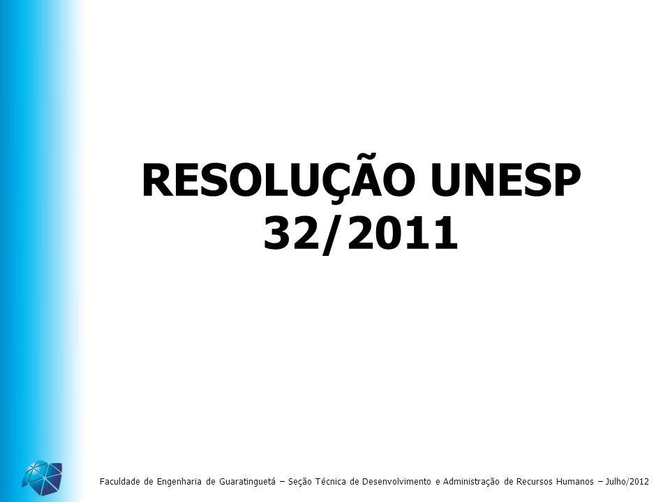 RESOLUÇÃO UNESP 32/2011