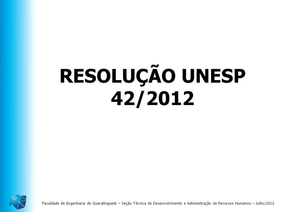 RESOLUÇÃO UNESP 42/2012