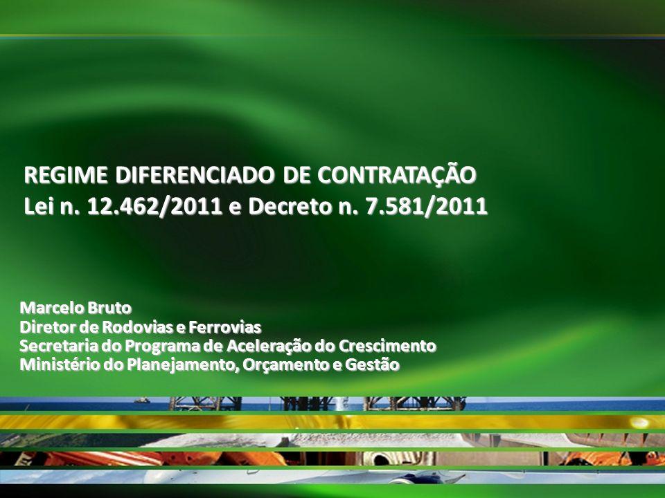 REGIME DIFERENCIADO DE CONTRATAÇÃO