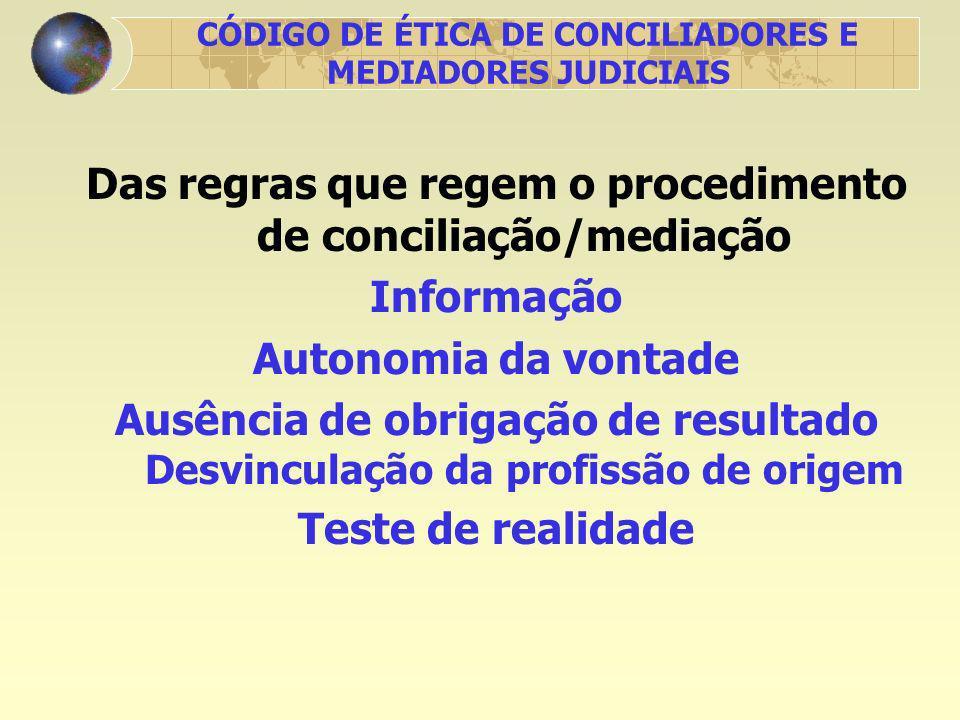 CÓDIGO DE ÉTICA DE CONCILIADORES E MEDIADORES JUDICIAIS