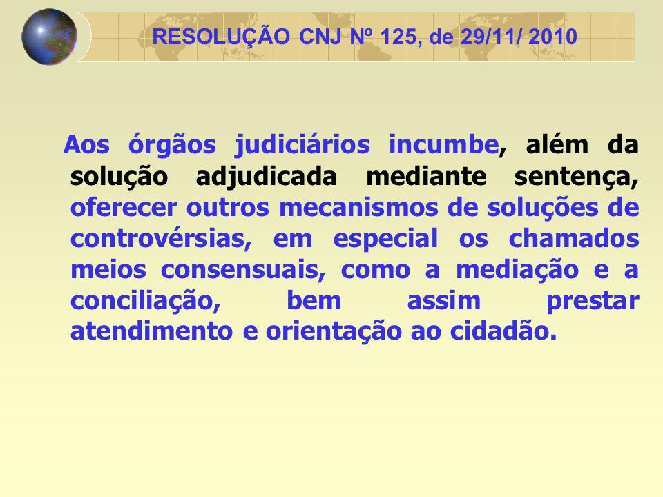 RESOLUÇÃO CNJ Nº 125, de 29/11/ 2010