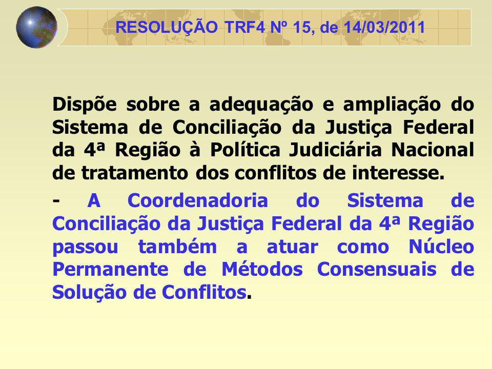 RESOLUÇÃO TRF4 Nº 15, de 14/03/2011