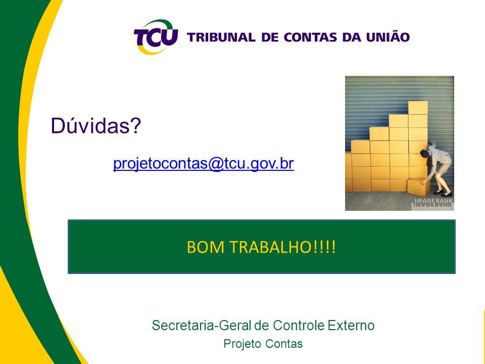 Secretaria-Geral de Controle Externo Projeto Contas