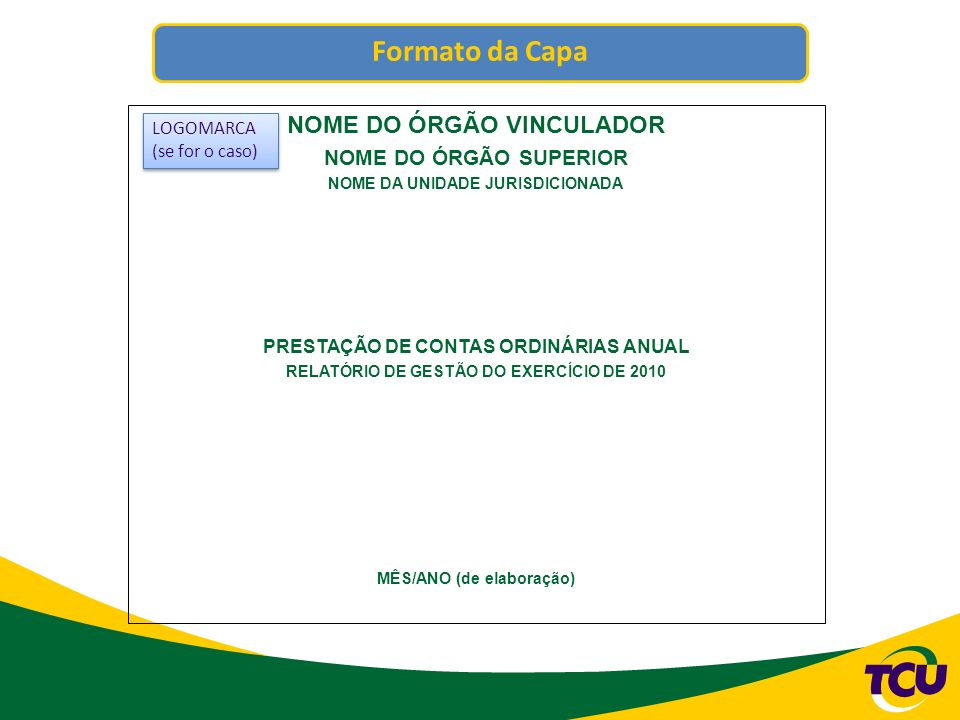 NOME DO ÓRGÃO VINCULADOR