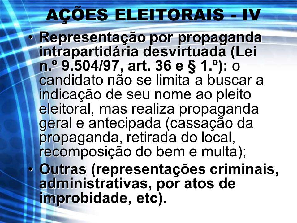 AÇÕES ELEITORAIS - IV