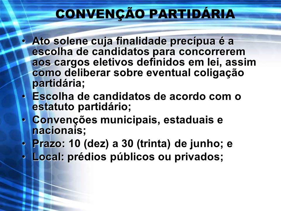 CONVENÇÃO PARTIDÁRIA
