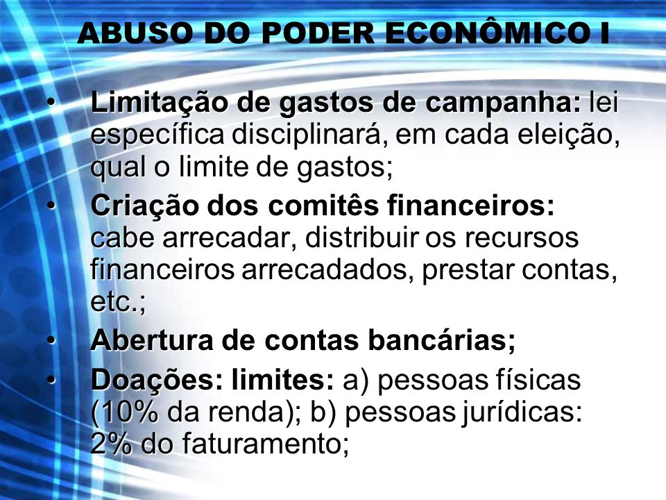 ABUSO DO PODER ECONÔMICO I