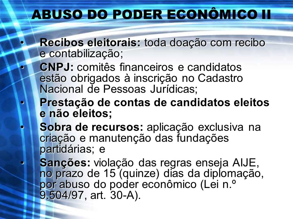ABUSO DO PODER ECONÔMICO II