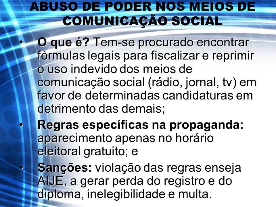 ABUSO DE PODER NOS MEIOS DE COMUNICAÇÃO SOCIAL