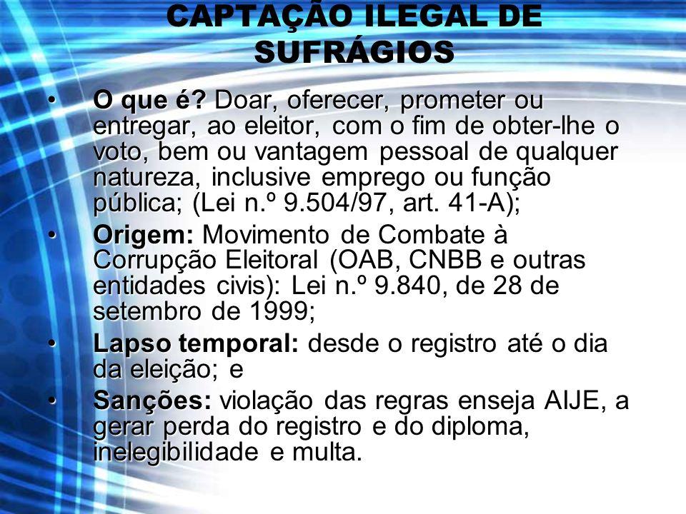 CAPTAÇÃO ILEGAL DE SUFRÁGIOS