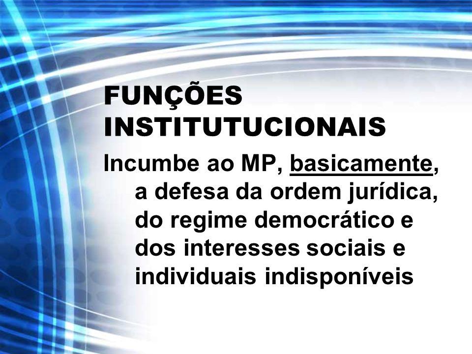 FUNÇÕES INSTITUTUCIONAIS