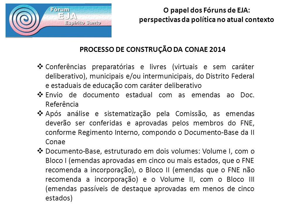 PROCESSO DE CONSTRUÇÃO DA CONAE 2014