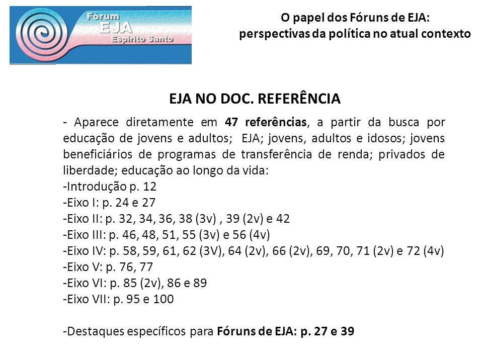 EJA NO DOC. REFERÊNCIA