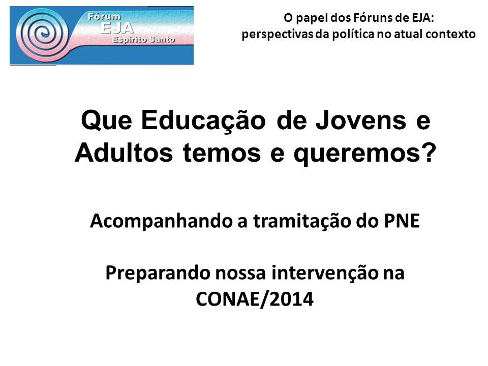 Que Educação de Jovens e Adultos temos e queremos