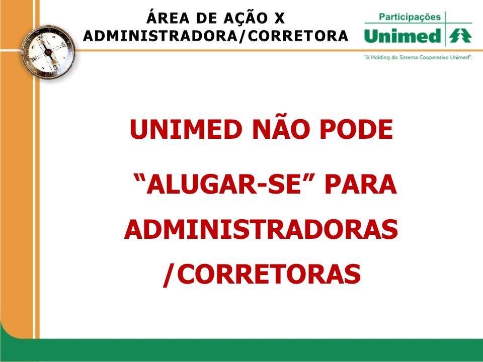 ADMINISTRADORA/CORRETORA ALUGAR-SE PARA ADMINISTRADORAS /CORRETORAS