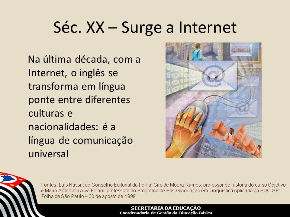Séc. XX – Surge a Internet