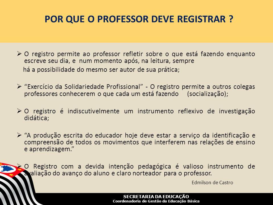 POR QUE O PROFESSOR DEVE REGISTRAR