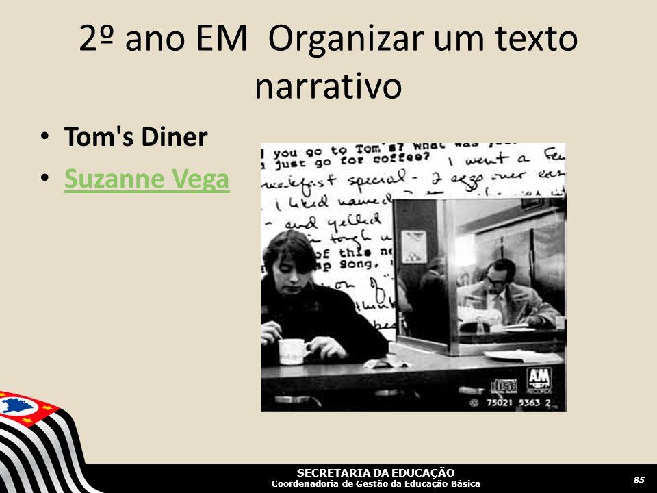 2º ano EM Organizar um texto narrativo