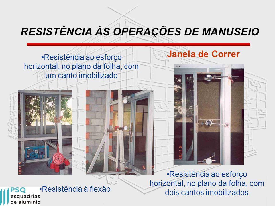 RESISTÊNCIA ÀS OPERAÇÕES DE MANUSEIO