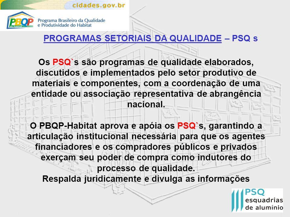 PROGRAMAS SETORIAIS DA QUALIDADE – PSQ s