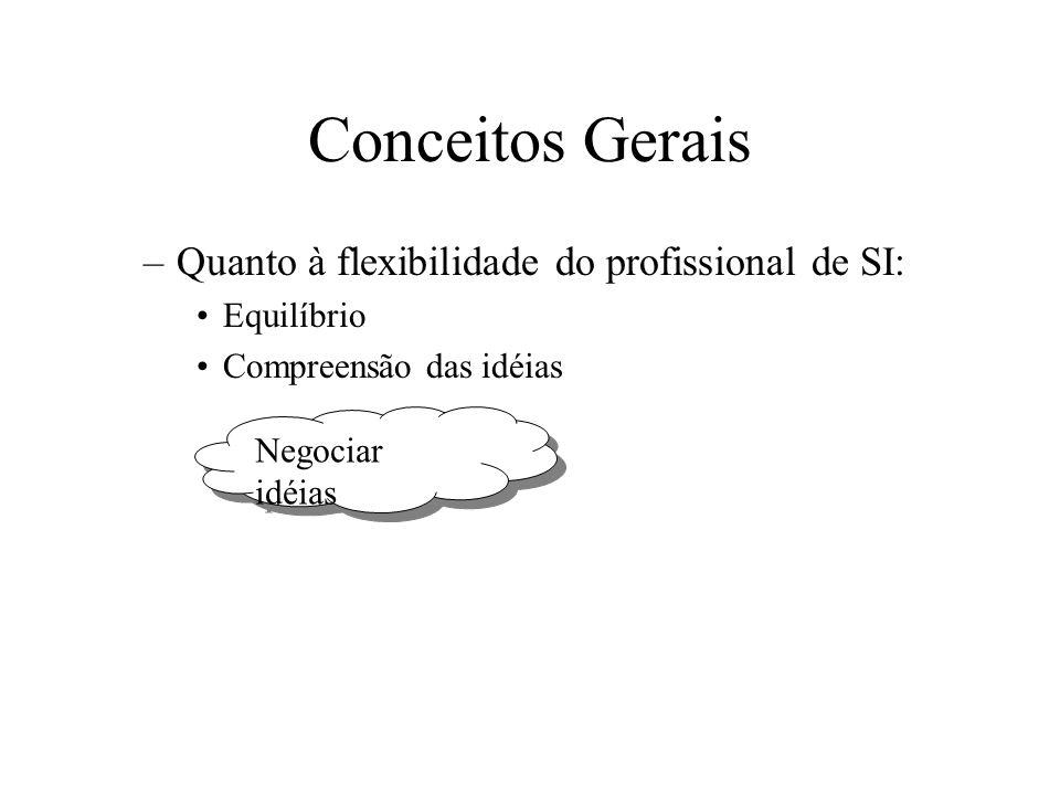 Conceitos Gerais Quanto à flexibilidade do profissional de SI:
