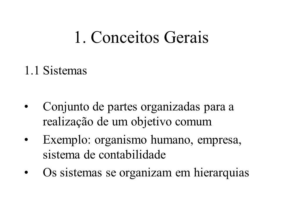 1. Conceitos Gerais 1.1 Sistemas
