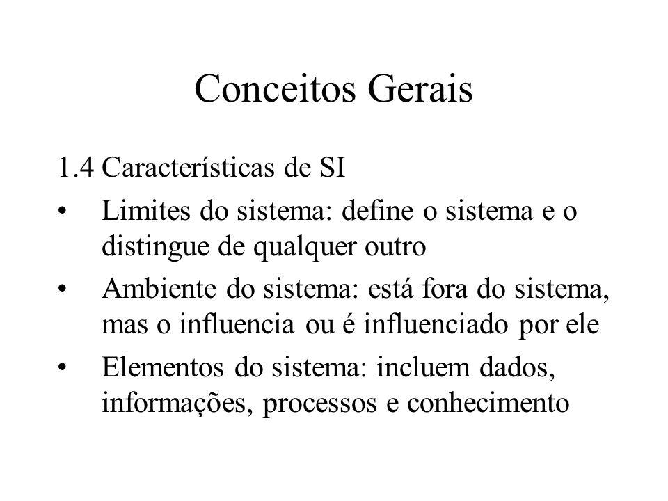 Conceitos Gerais 1.4 Características de SI