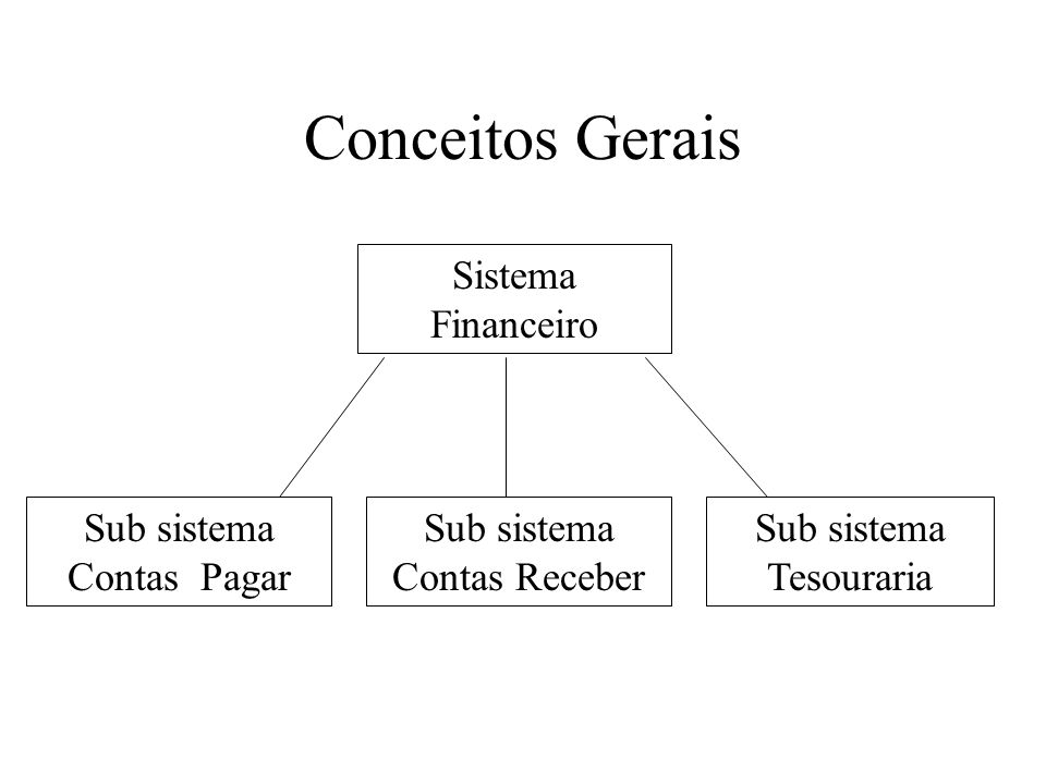 Conceitos Gerais Sistema Financeiro Sub sistema Contas Pagar