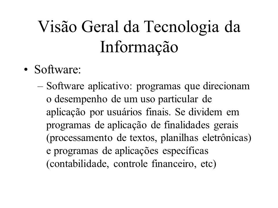 Visão Geral da Tecnologia da Informação