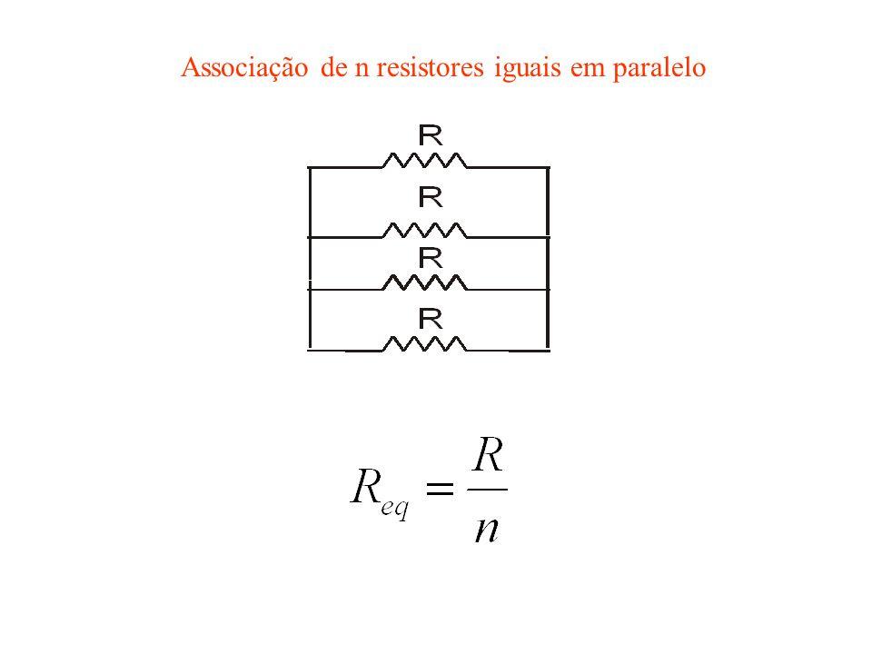 Associação de n resistores iguais em paralelo