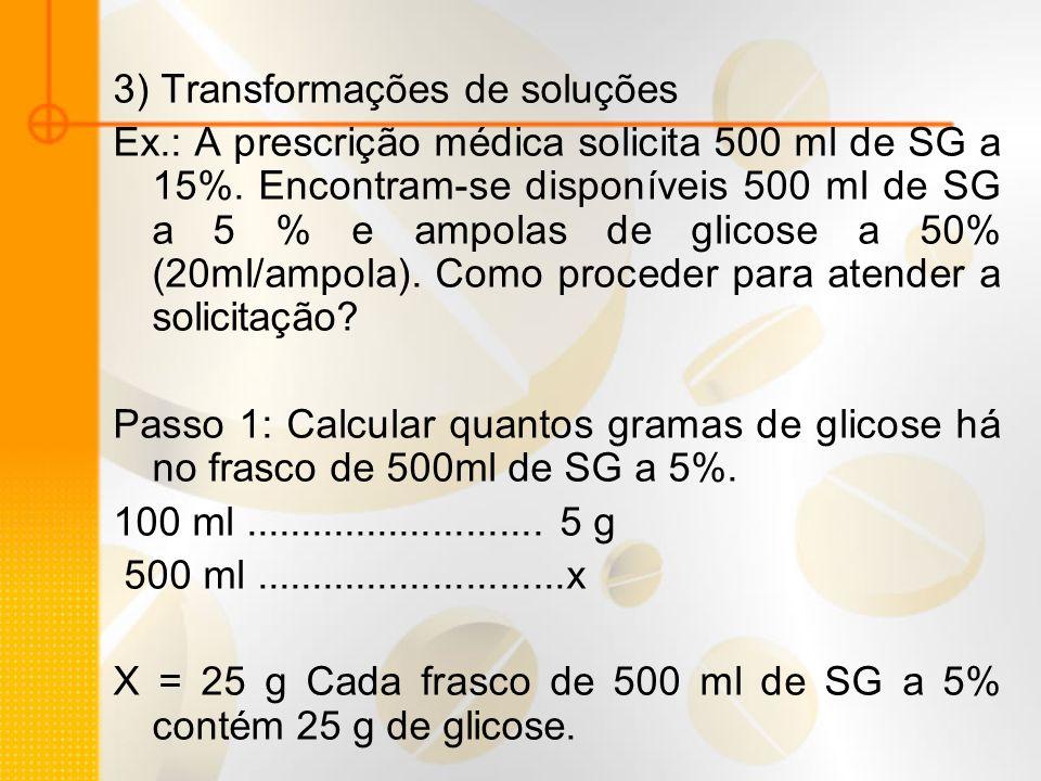 3) Transformações de soluções