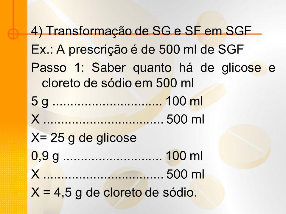 4) Transformação de SG e SF em SGF