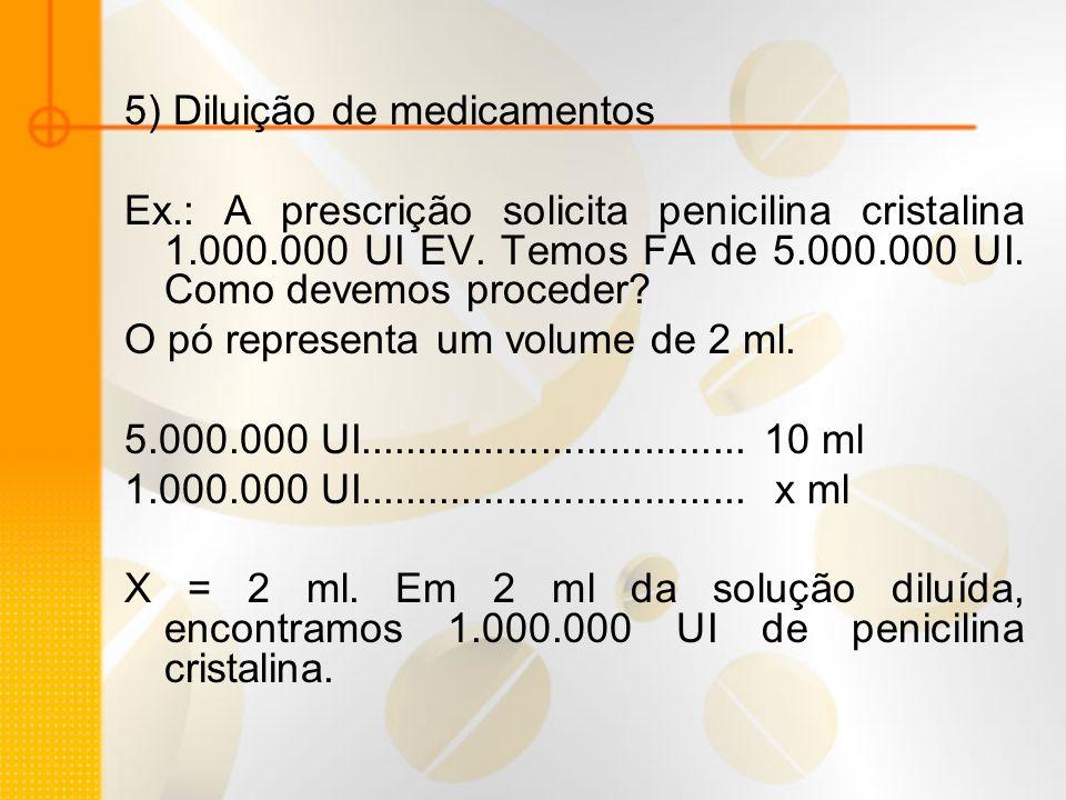 5) Diluição de medicamentos