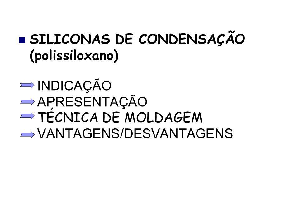 INDICAÇÃO APRESENTAÇÃO TÉCNICA DE MOLDAGEM VANTAGENS/DESVANTAGENS