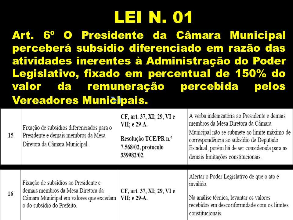 LEI N. 01