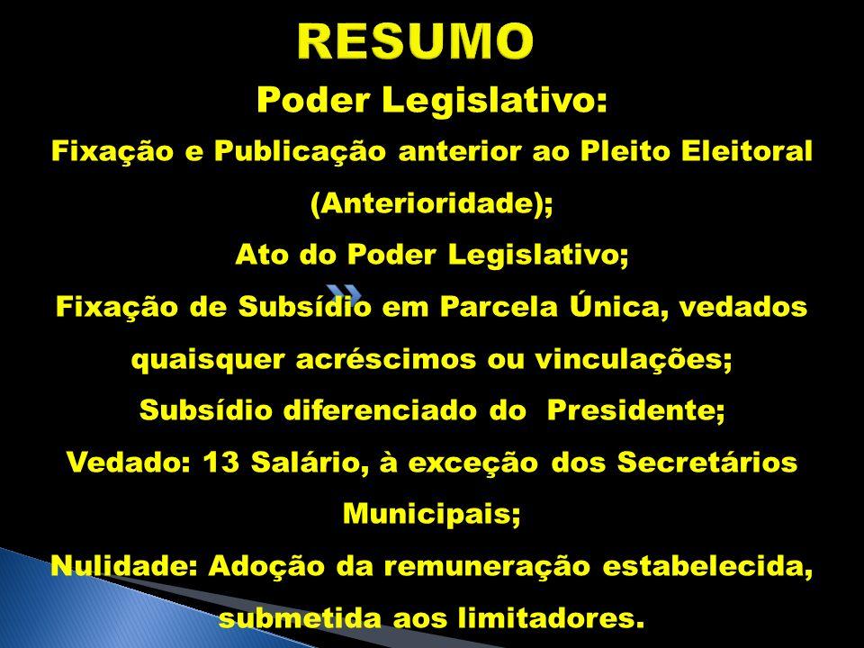 RESUMO Poder Legislativo:
