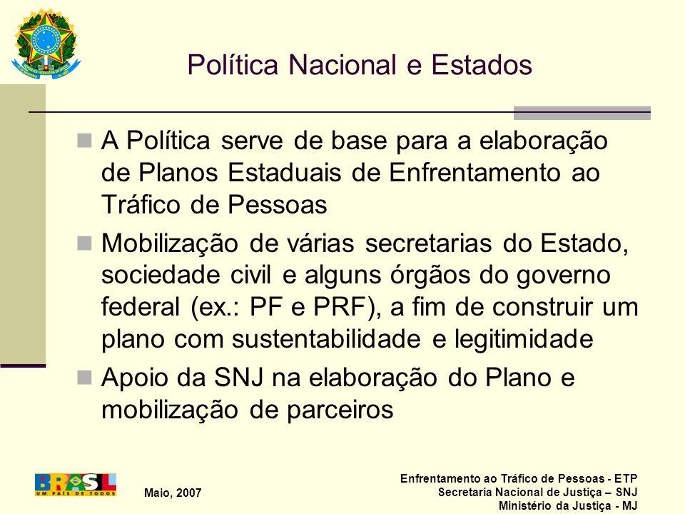 Política Nacional e Estados