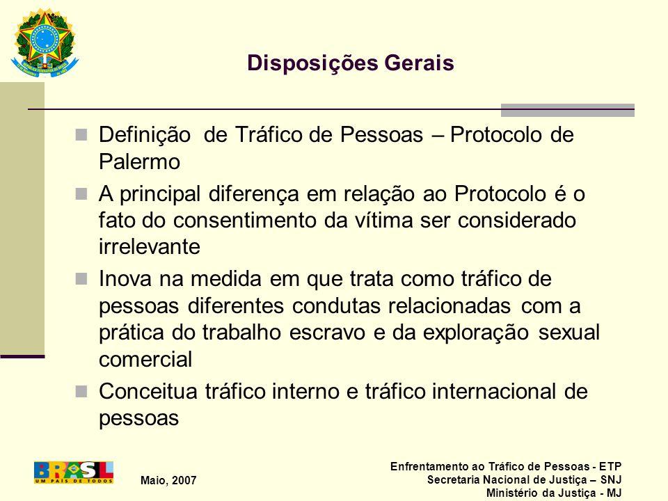 Definição de Tráfico de Pessoas – Protocolo de Palermo