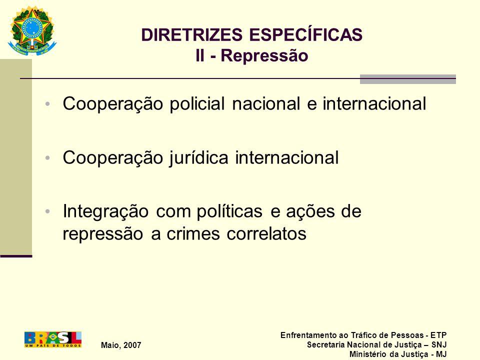 DIRETRIZES ESPECÍFICAS II - Repressão